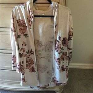 Maurices Floral Hooded Cardigan